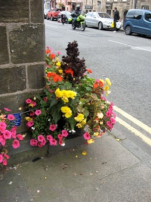 Planters around St Michaels Well